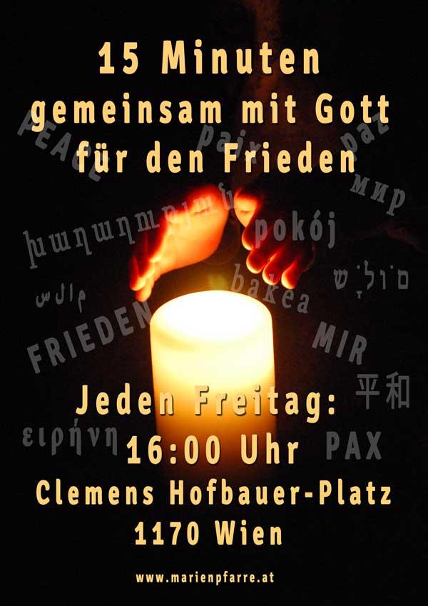 Plakat Einladung Friedensgebet